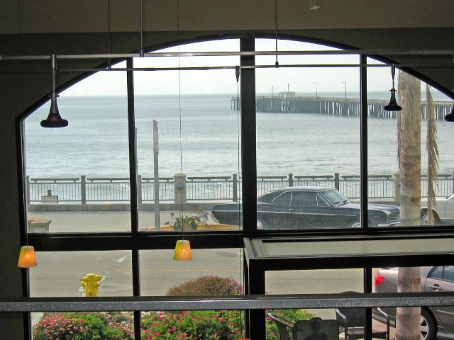 Joe Momma's Coffee - view of the ocean bay out the window