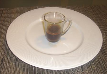 espresso with the crema removed
